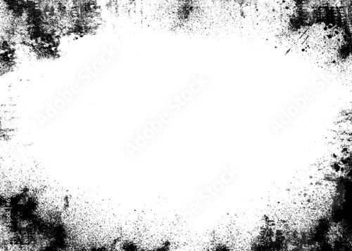 black border grunge background - Buy this stock illustration and