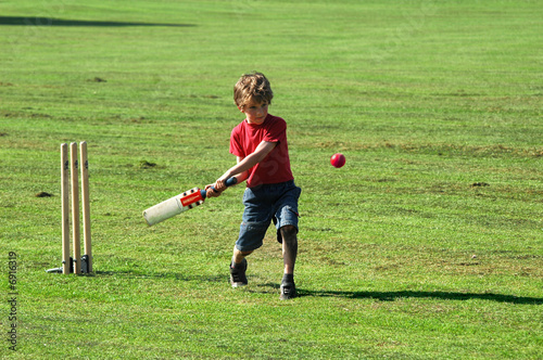 boy playing cricket - Buy this stock photo and explore similar