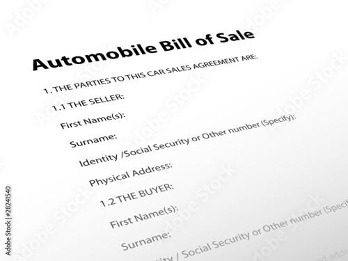 Automobile Bill of Sale\