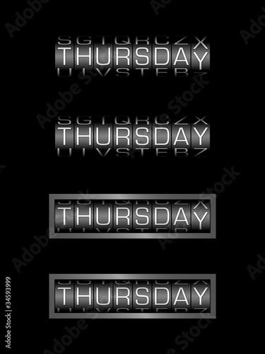 THURSDAY counter calendar - english day - Buy this stock