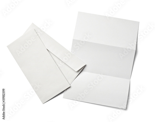 leaflet letter business card white blank paper template - Buy this