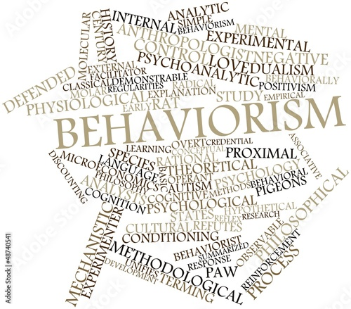 Word cloud for Behaviorism - Buy this stock illustration and explore