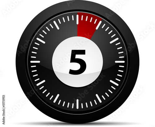 5 Minutes timer - Buy this stock vector and explore similar vectors