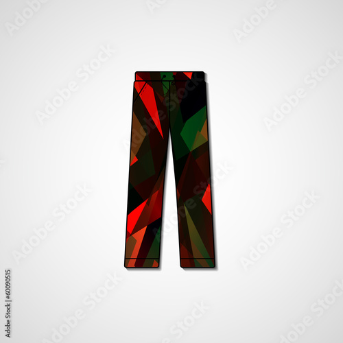 Abstract illustration on pants, template editable - Buy this stock