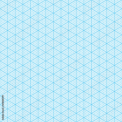 Isometric graph paper Seamless illustration - Buy this stock