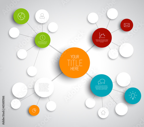 Vector abstract mind map template - Buy this stock vector and