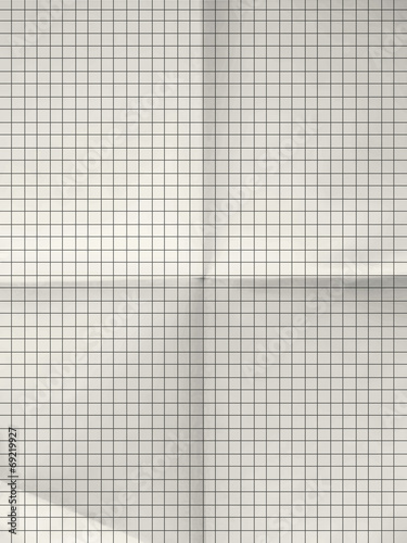 Old sheet of grid paper background - Buy this stock illustration and