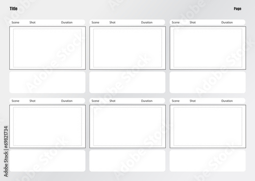 Professional of film storyboard template - Buy this stock vector and