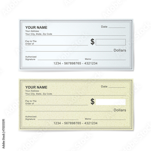 blank bank check template - Buy this stock vector and explore