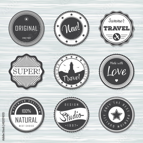 Vintage labels template set super, original, new, travel - Buy