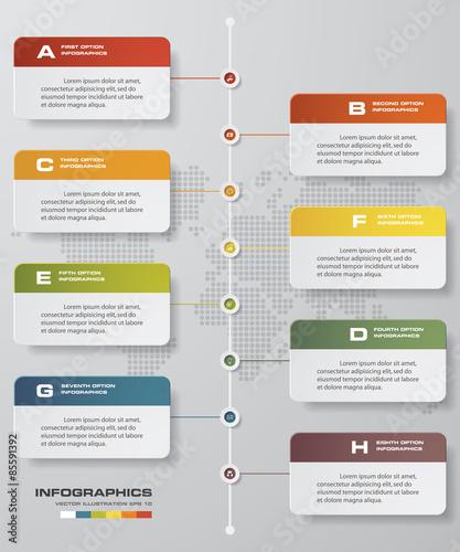 time line description 8 steps timeline infographic business design