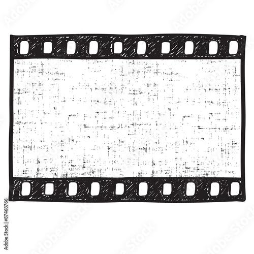 Film strip background Empty film frame sketch style , vector - Buy