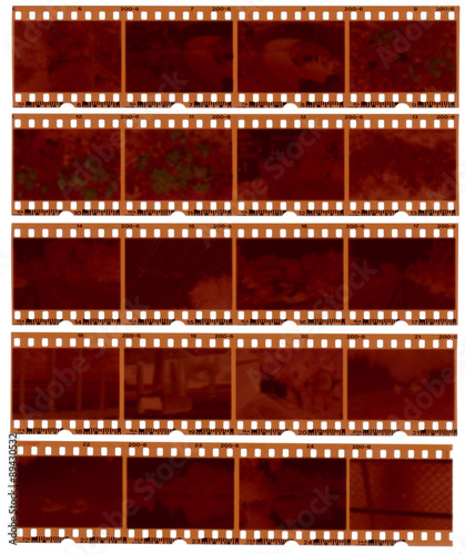 Realistic gritty scan of 35mm color negative film strips - Buy this