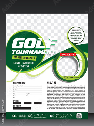 golf tournament flyer template - Buy this stock vector and explore