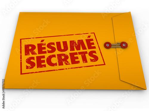 Resume Secrets Yellow Envelope Help Guidance Tips Advice Job Int