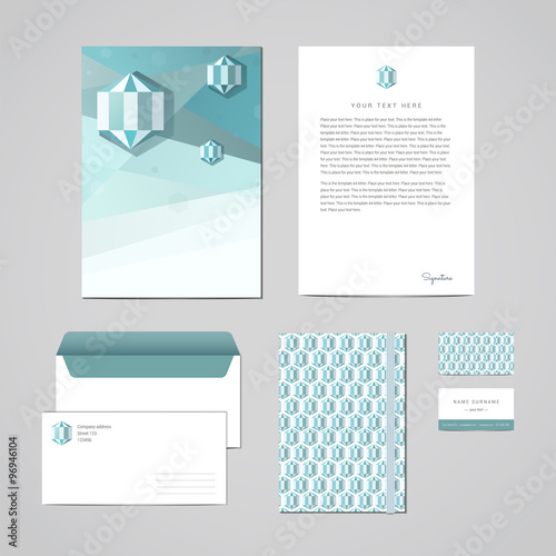 Corporate identity design template Documentation for business - letterhead and envelope design