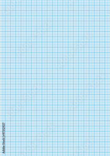 Graph paper cyan color on a4 sheet size - Buy this stock vector and