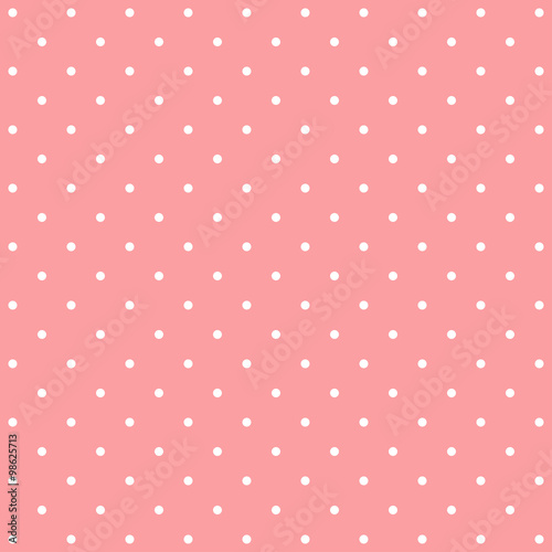 Pink polka dot background pattern - Buy this stock vector and
