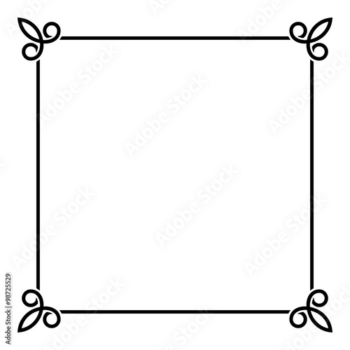 Black Border Vintage Frame on White Background Vector - Buy this - black border background
