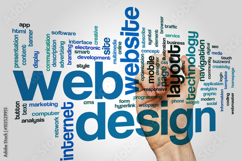 Web design word cloud - Buy this stock photo and explore similar