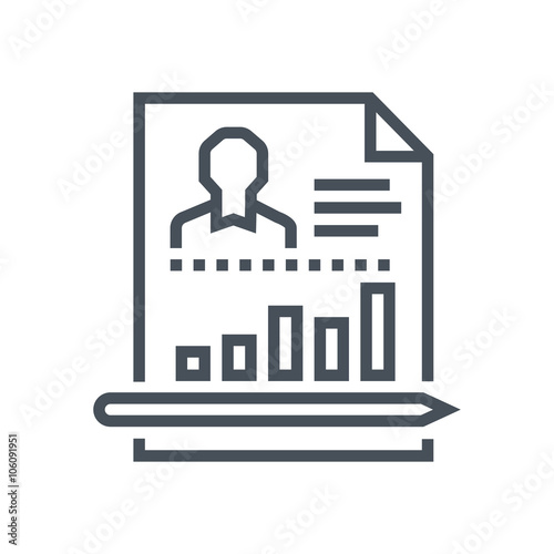 Employee performance report icon - Buy this stock illustration and