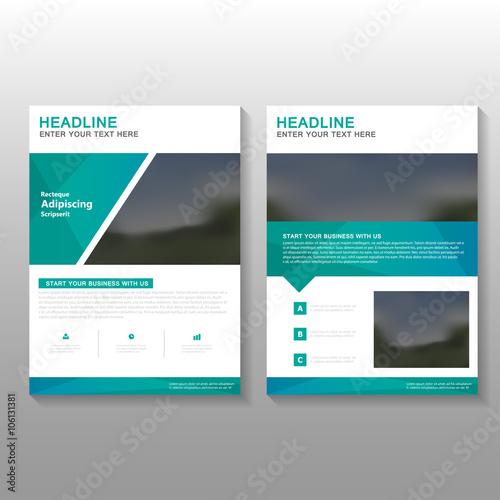 Green elegance Vector business proposal Leaflet Brochure Flyer