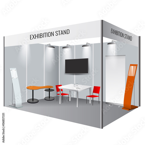 Creative exhibition stand design Booth template Corporate identity