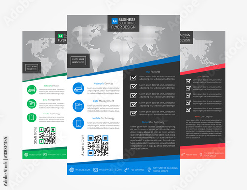 Leaflet layout vector illustration Corporate flyer (poster