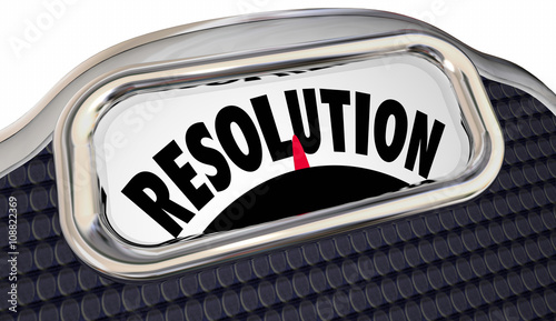 Resolution Word Scale New Year Promise Commitment Lose Weight - Buy