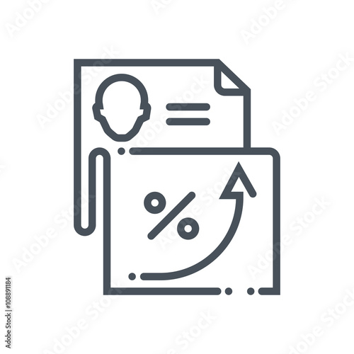 Employee performance report icon - Buy this stock vector and explore