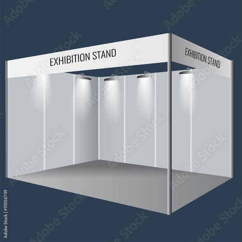 Creative exhibition stand design Booth template Corporate identity - po booth template