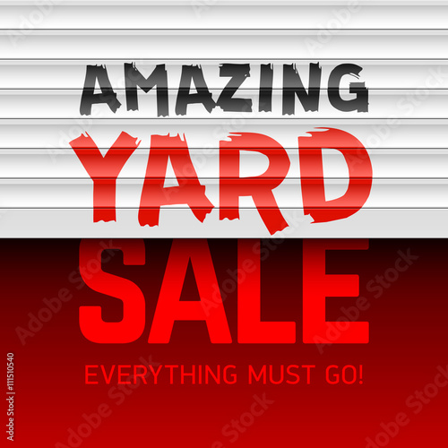 Amazing Yard Sale poster template - Buy this stock vector and