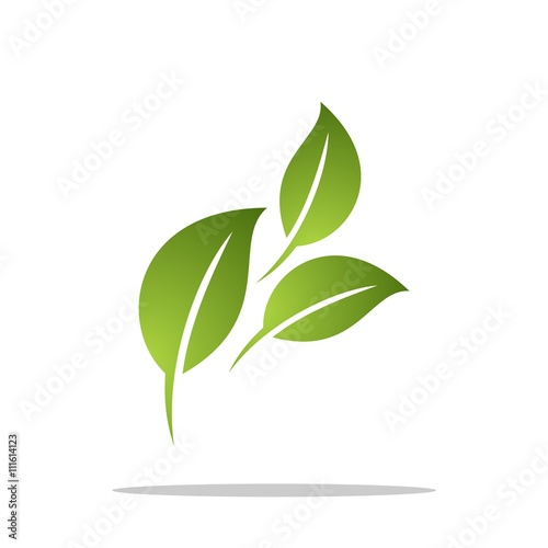 Green Leaf Grow Logo Template v2 - Buy this stock vector and