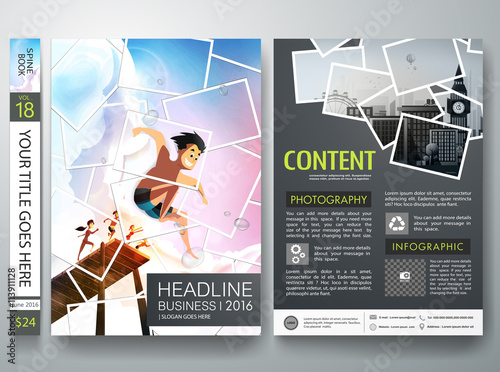 Brochure design template vectorPhotography flyers business magazine