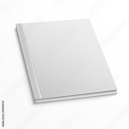 Blank magazine cover template on white background Mockup for book