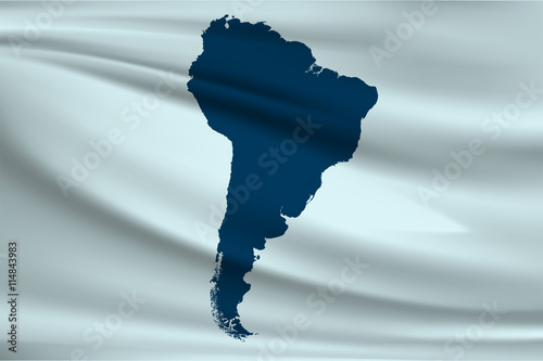 Flag of South America Map of the South American continent - Buy
