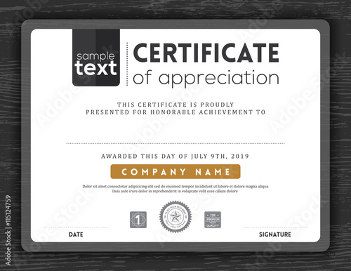 Simple certificate border frame design template - Buy this stock