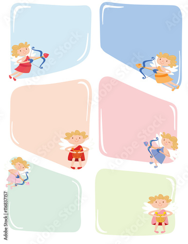 angel cupid labels printable note paper letter paper - Buy this