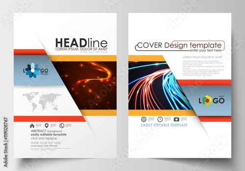 Templates for brochure, magazine, flyer, booklet or report Cover