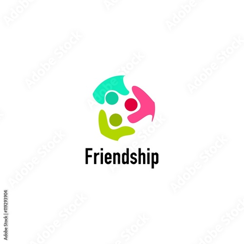 Friendship logo design template Perfect for friendship day greeting