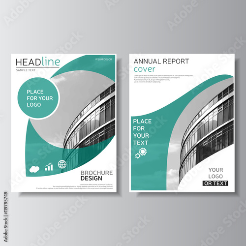Brochure design Annual report cover Leaflet template Flyer layout - leaflet template