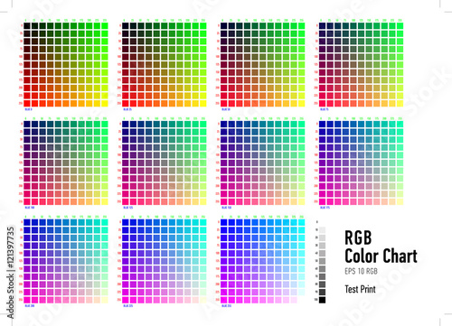 RGB Press Color Chart - Buy this stock vector and explore similar