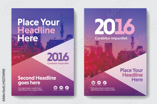 Gradient Scheme with City Background Business Book Cover Design