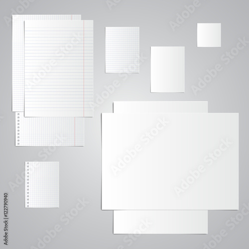 Sheets of notebook, album, notebook, exercise book With holes for