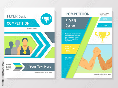 Sports Competition Flyer Template - Buy this stock vector and