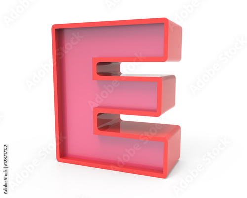 red block letter E - Buy this stock illustration and explore similar