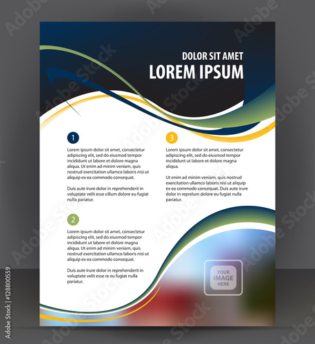 Abstract flyer, brochure, cover layout design print template - pamphlet layout template