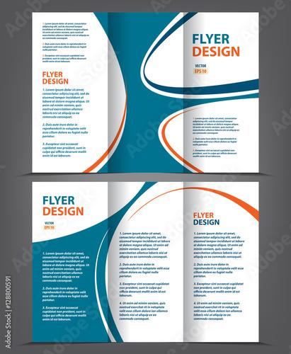 Vector tri fold brochure template design, concept business leaflet