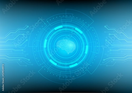 Abstract digital and technology background Artificial Intelligence - circuit design background