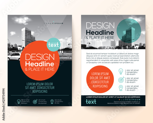poster flyer pamphlet brochure cover design layout with circle shape - pamphlet layout template